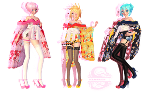 Tda Short Kimono Pack 1 by Evelyn-sama