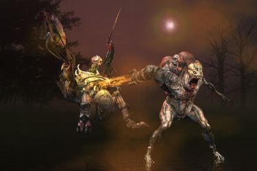 battle of Cyborg 1 and 2 by sylver-dali