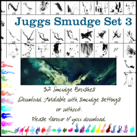 Smudge Brush Set 3 NO SETTINGS by juggsy