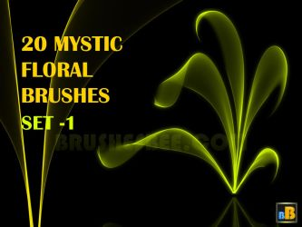 20 Mystic Floral Brushes Set 1 by brightworld