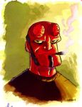 hellboy fan art by CROMOU