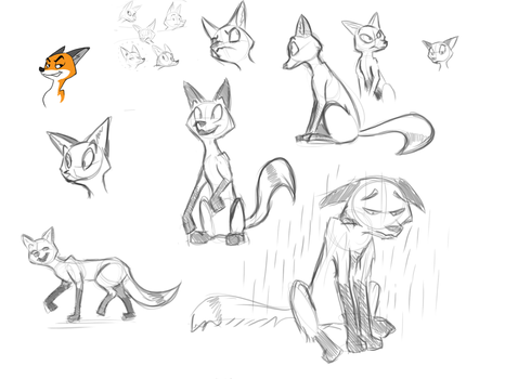 Cartoon fox practice  reference psge by Sreddyswag