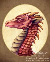 Red Dragon Bust by HeatherHitchman