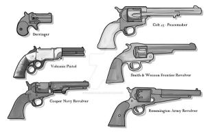 Blackwater Gultch: Pistols by TheWebTroll