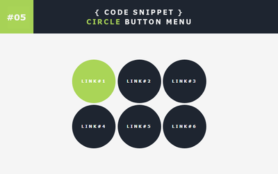 [05] Code Snippet - Circle Button Menu by Gasara