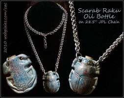 Scarab Bottle Necklace by pervyfaerie
