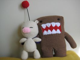 Moogle and Domo by Goldenjellybean