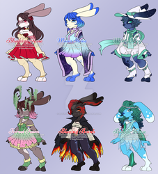 Bunny Batch Adoptables #1 [Closed] by Duck-Roulette