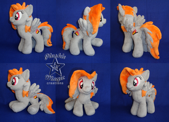 COMMISSION: Velocity Sketch OC 10 inches plushie by SunflowerTiger