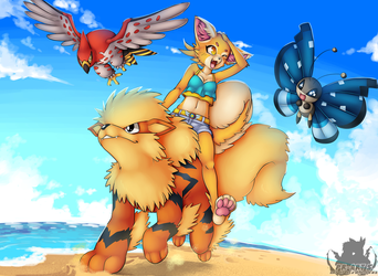 [Poke-Auction] Beach Riding by Pikuna