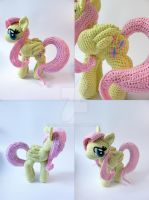 Fluttershy Amigurumi other views closed wings by LeFay00