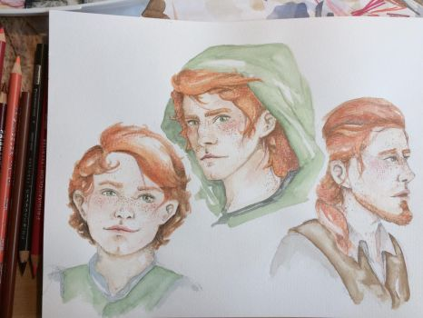 kvothe (through the years) by Wrack-spurt