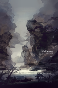 Exile - rough piece for patreon by shilin
