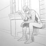 Spider-man Hotdog - pencils by arunion