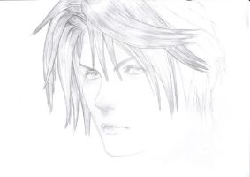 Squall de Final Fantasy VIII by floboc