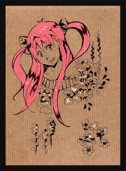 Wooden pink by one-night-flower