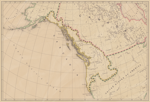 The Bioregion of Cascadia by pavelzuk
