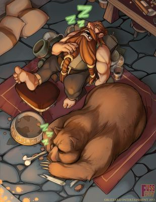 After-Dinner Nap - World of Warcraft Tribute by fusspot