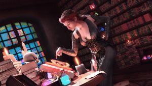 Magical Research In The Library by armieri