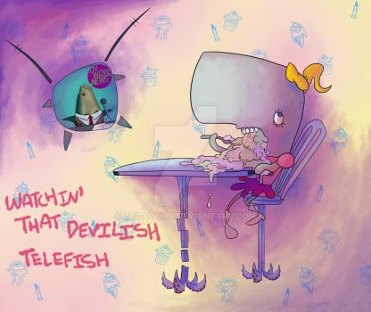 Watchin' that Devilish Telefish by Z23-active