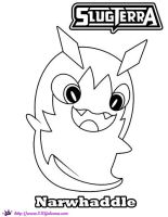 Narwhaddle Slugterra coloring Page by SKGaleana