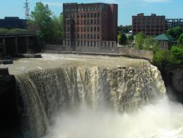 Lower falls of the Genesee river by Android-shooter