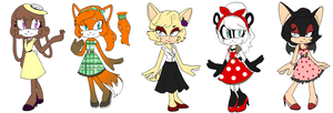 50s Female Adoptables (Closed) by YanYanii