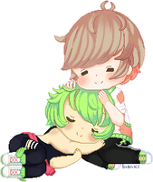 C: Midori and Sutetchi - NOT FREE TO USE by bian-ks