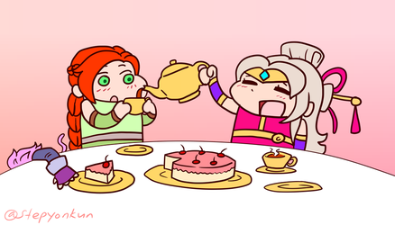 Lian and Cassie Tea Party, Paladins by stephenc94
