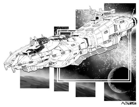 Battletech - Temeraire Class Frigate by sharlin