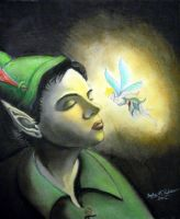 Peter Pan and Tink by tbonematrix
