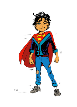 Superboy ink and colour by djinn666