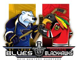 2014 NHL Playoffs Rd 1 Blues vs. Blackhawks by Epoole88