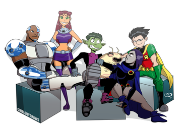 Teen Titans Entertainment Weekly by Chillguydraws