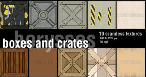 Boxes and crates with bump map by borysses