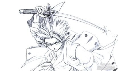 Hitsugaya Toshiro Sketch by Washu-M