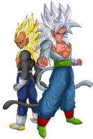 Blazejecar's AF - Goku and Vegeta SSJ5 by Nassif9000