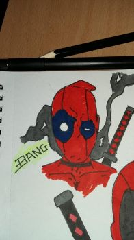 dead pool smoking  by projectmagrin