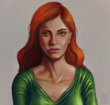 Jean-Grey - portrait by OZtheW1ZARD