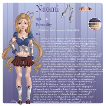 Naomi Character refrence by FairysLiveHere