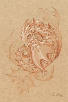 Paper Dragon 3 by sandara