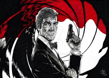 Sir Roger Moore James Bond 007 Tribute by ARTTHAM
