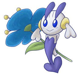 Shiny Blue Floette by Siseja-sama