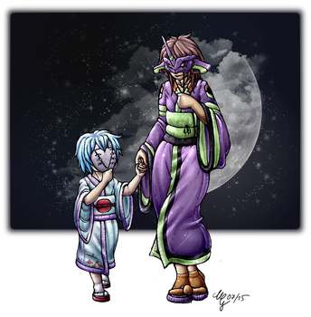 Mother *colored* (Evangelion) by CaptainMetal