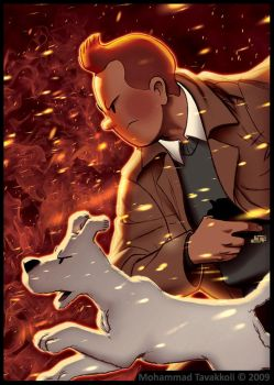 Tintin : Burning Dust Storm by memotava