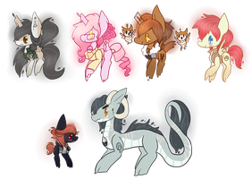 Stray Adopts and Customs Masterlist Chibis by CrowCakeys