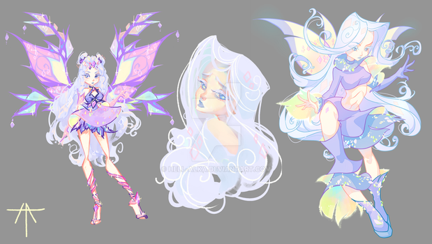 Glass fairy WINX adopt: Purple by Hell-Alka