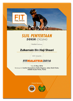 E Certificate FIT Malaysia 2016 FM RIde by carnine9