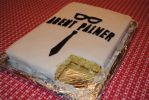 The first piece is gone of an Agent Palmer Cake by agentpalmer