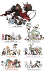 All my Griffians in their Correct grouping by griffsnuff